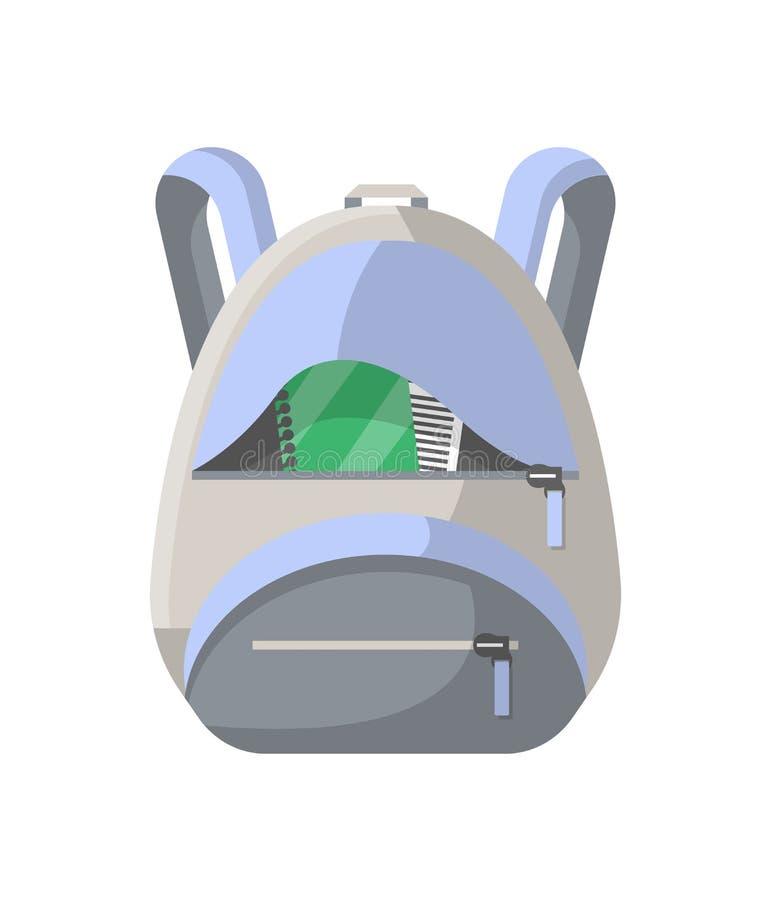 School knapsack vector isolated icon royalty free illustration