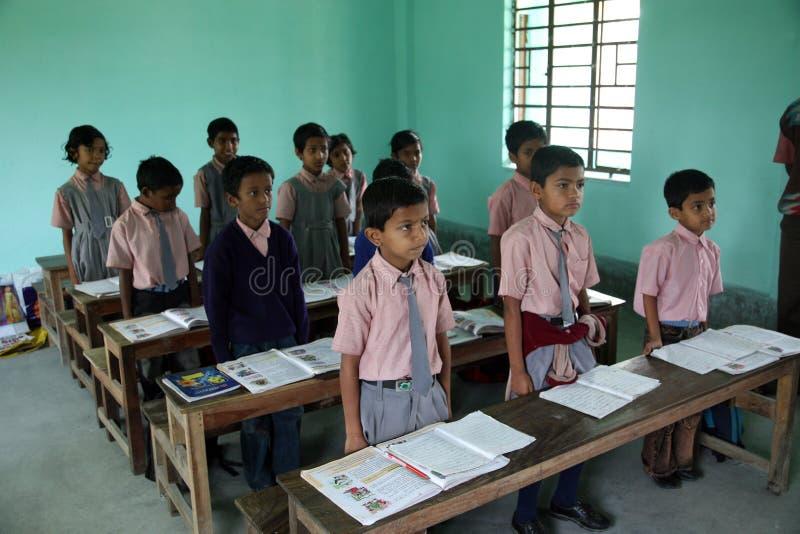 School in Kumrokhali stock afbeelding