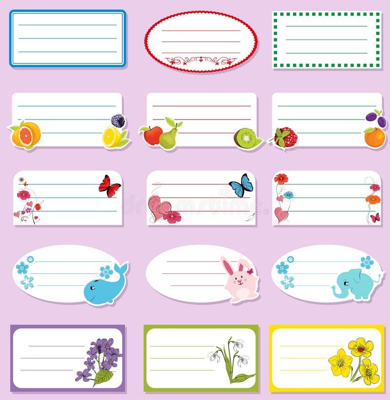 Download School labels stock vector. Image of herbal, labels, promotion - 43861384