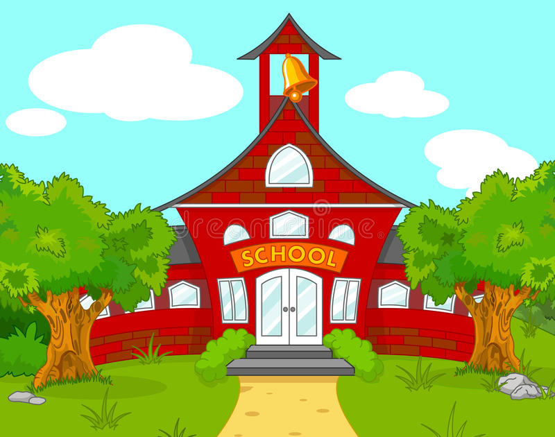 School landscape royalty free illustration