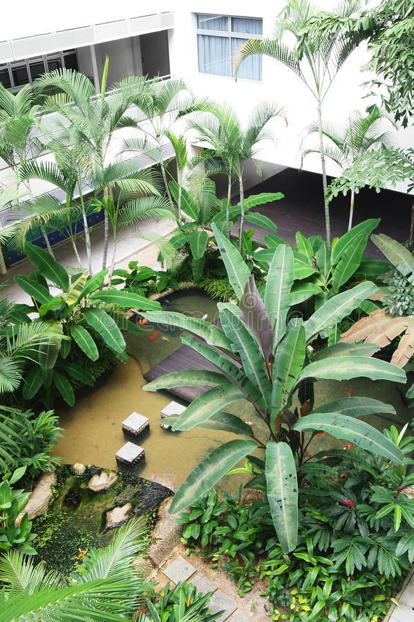 Download School Landscaping With Pond Stock Photo - Image: 20991394
