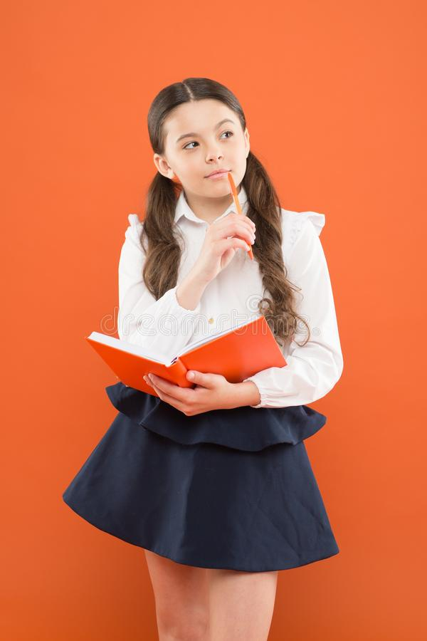 School lesson. Child doing homework. Your career path begins here. Inspiration for study. Back to school. Knowledge day royalty free stock image