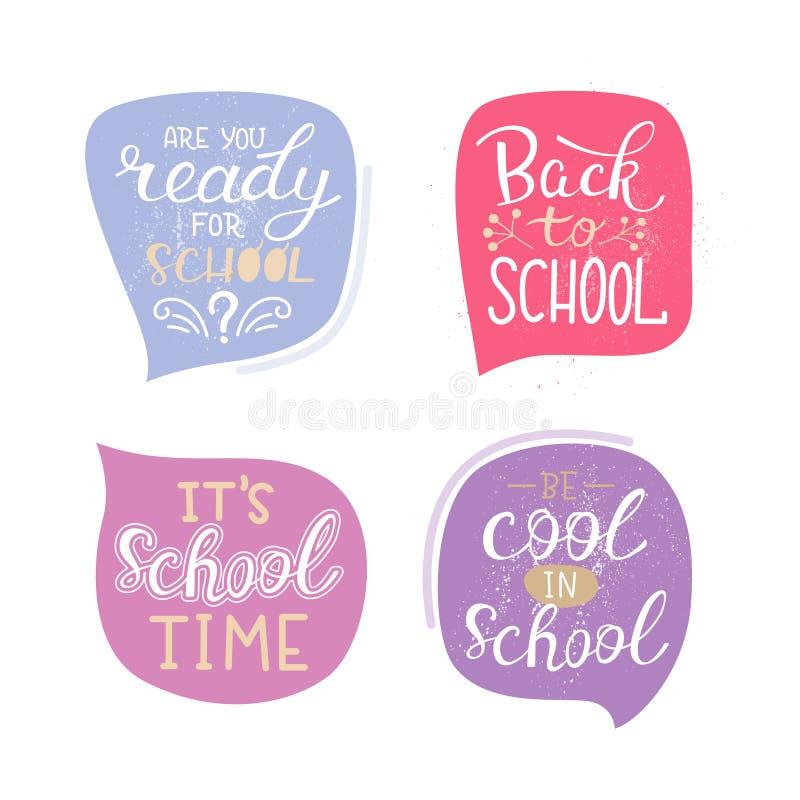 School lettering royalty free illustration