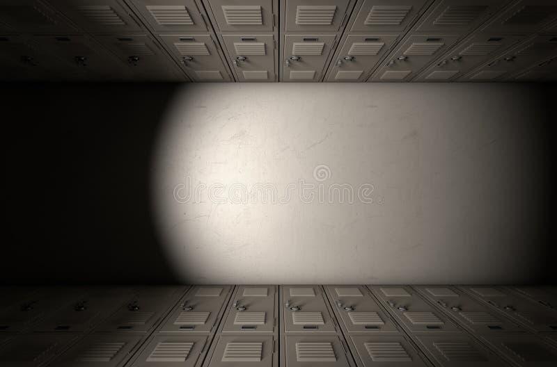 School Locker Corridor stock images