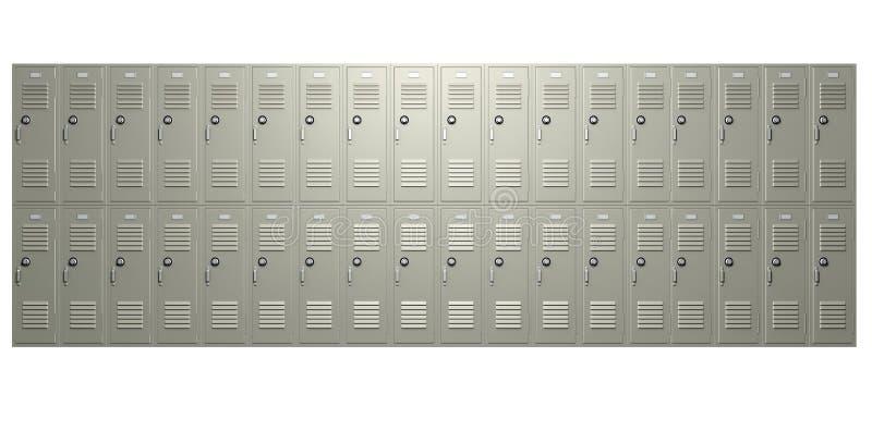 School Lockers Front Stock Illustration Illustration Of