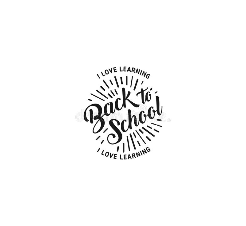 School logo vector. Monochrome vintage style design educational learning sign. Back to school, university, college retro stock illustration