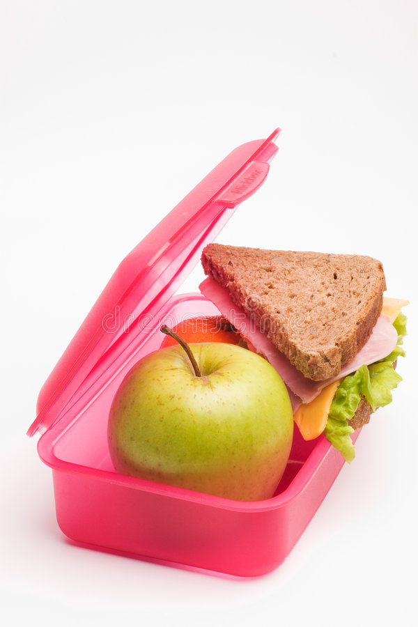 School lunch royalty free stock image