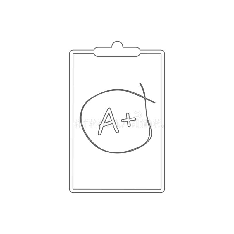 School mark-up icon. Element of Education for mobile concept and web apps icon. Outline, thin line icon for website design and. Development, app development on stock illustration