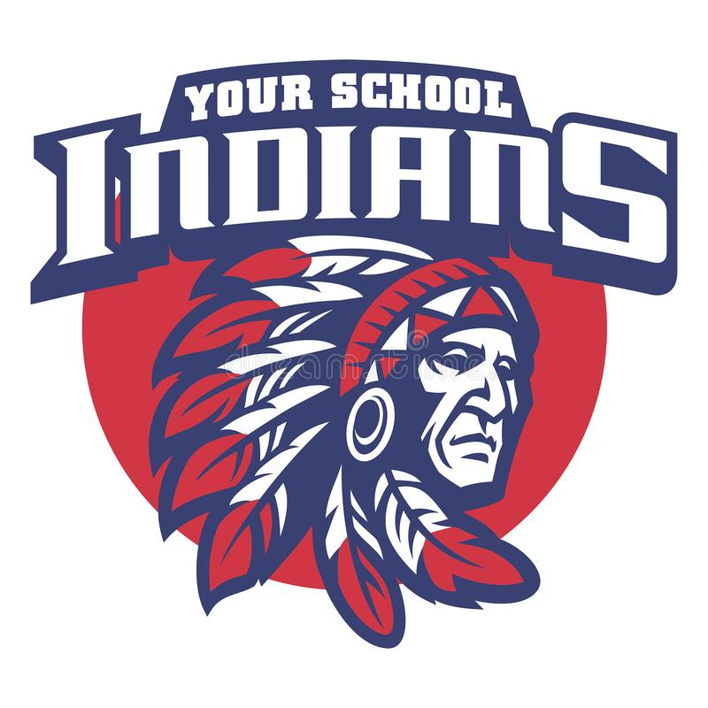 Free School Mascot Of Indian Chief Head Stock Image - 106185111