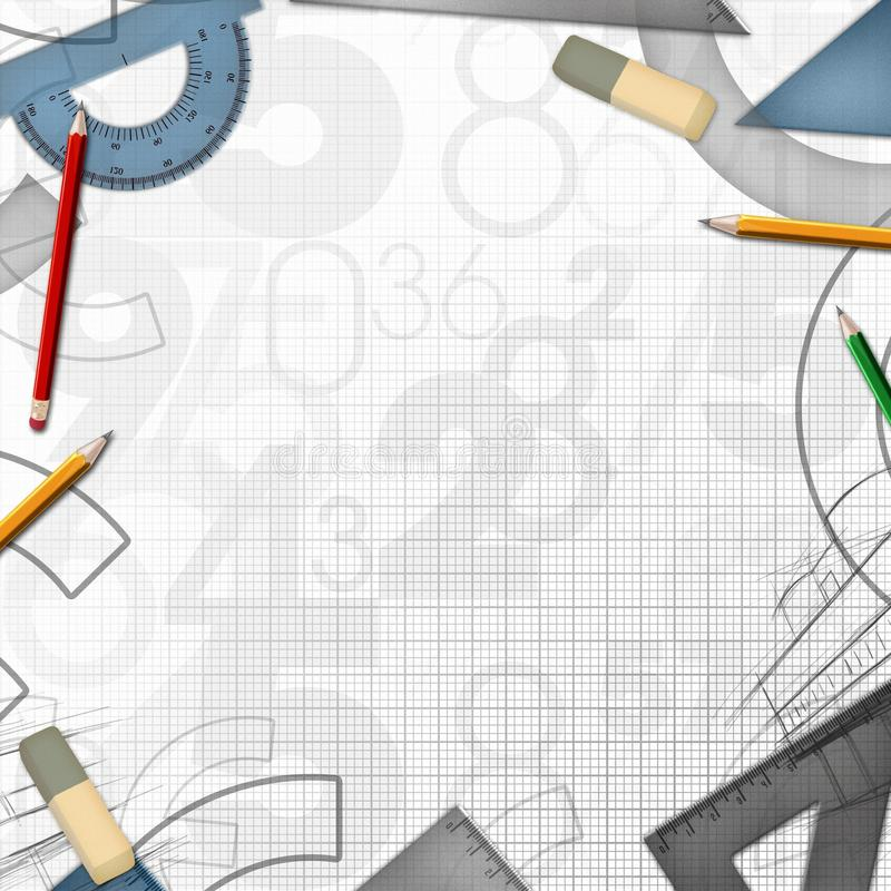 Download School Math Drawing Tools Background Stock Illustration - Image: 28962434