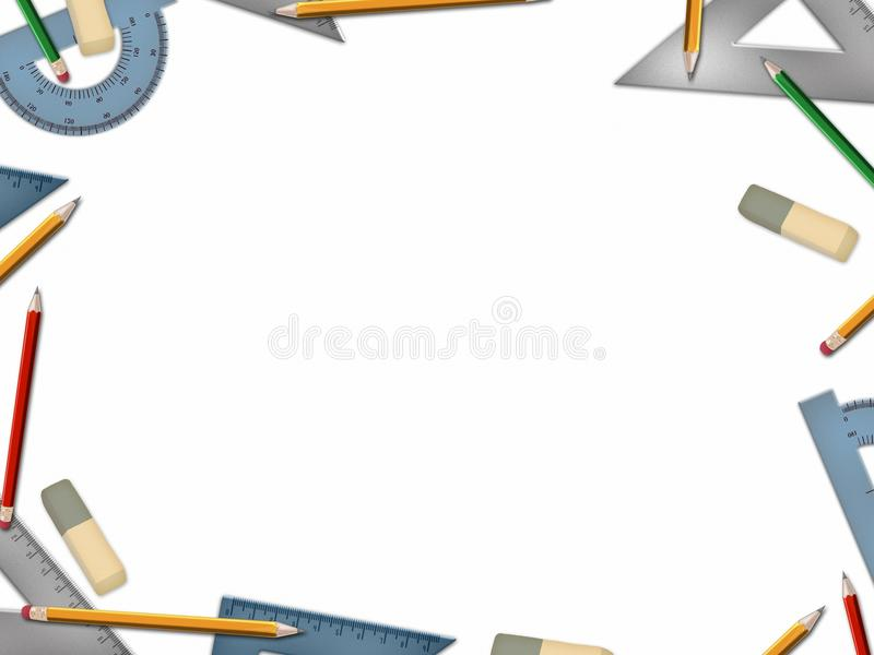 Download School Math Tools  On White Background Stock Illustration - Image: 28962302