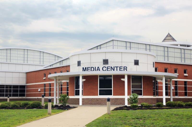 School Media Center. A modern school media center with brick stones royalty free stock photography