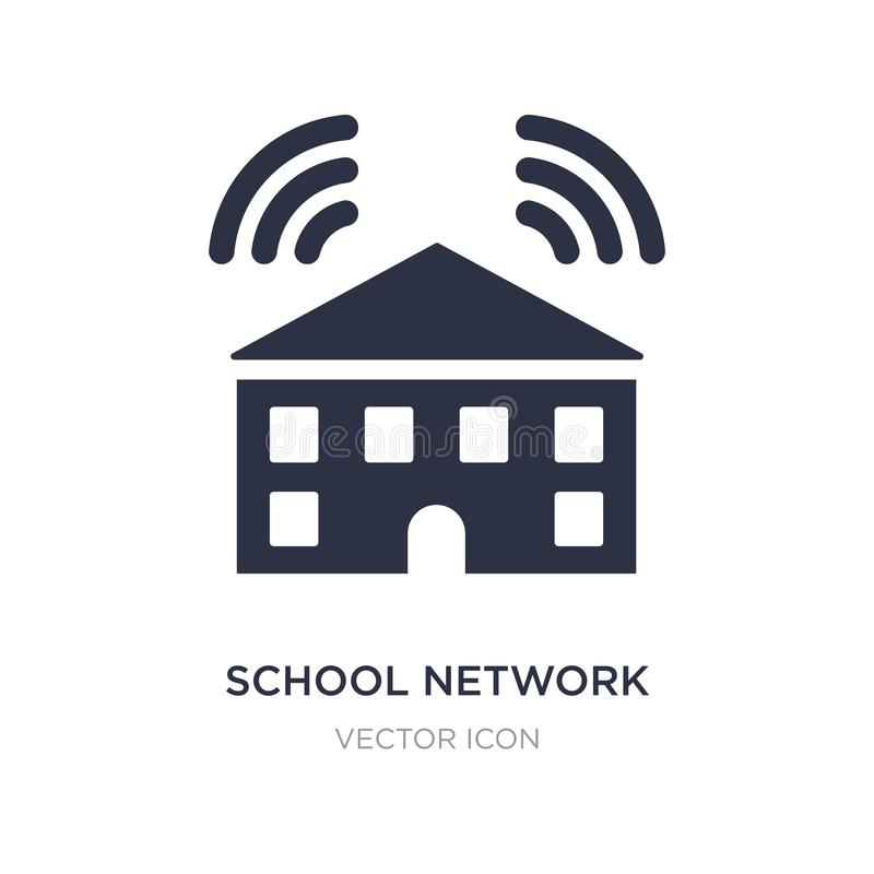 School network icon on white background. Simple element illustration from Networking concept. School network sign icon symbol design vector illustration