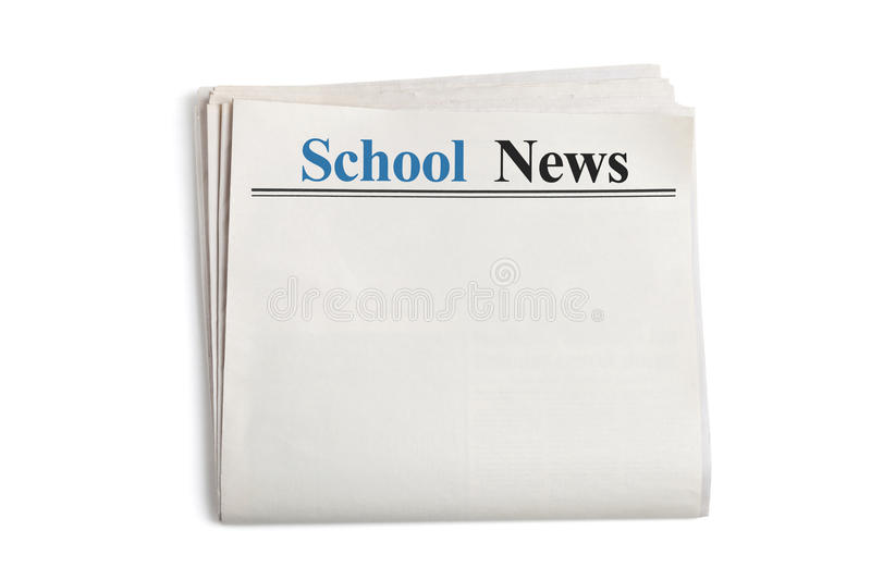 Download School News stock image. Image of information, white - 25423287