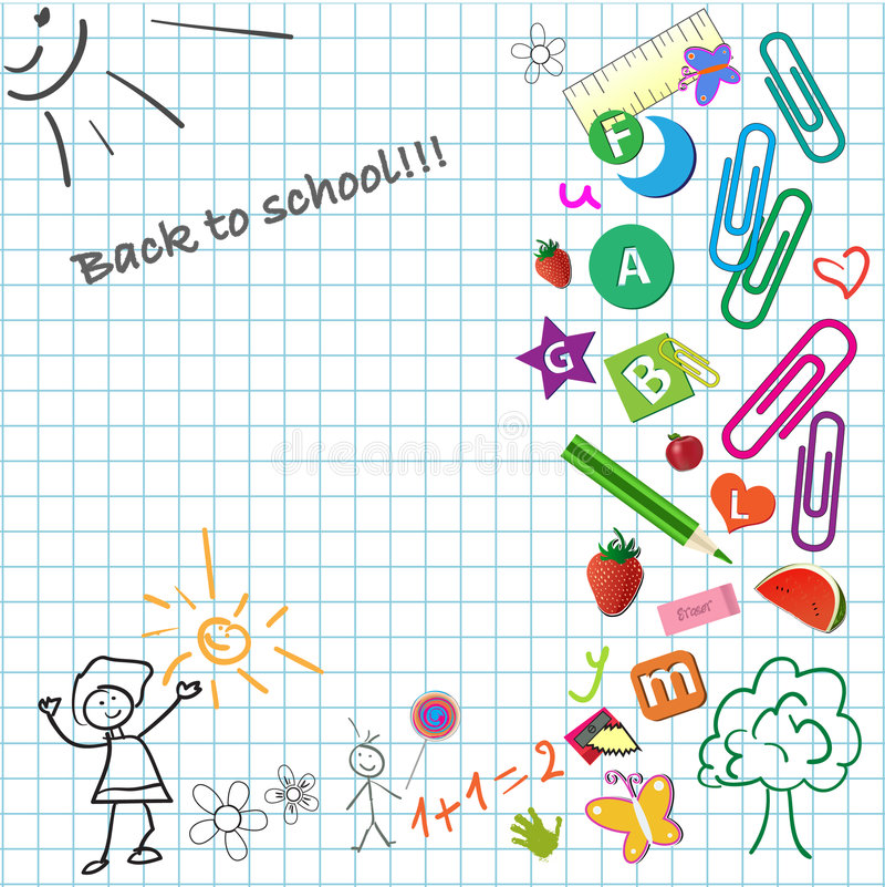 Download School notepad stock vector. Image of happiness, alphabet - 9022002