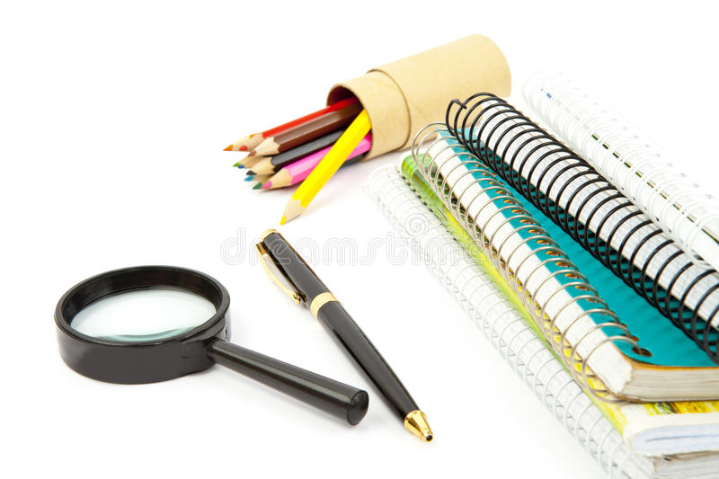 Download School objects stock image. Image of up, paper, binder - 26486277