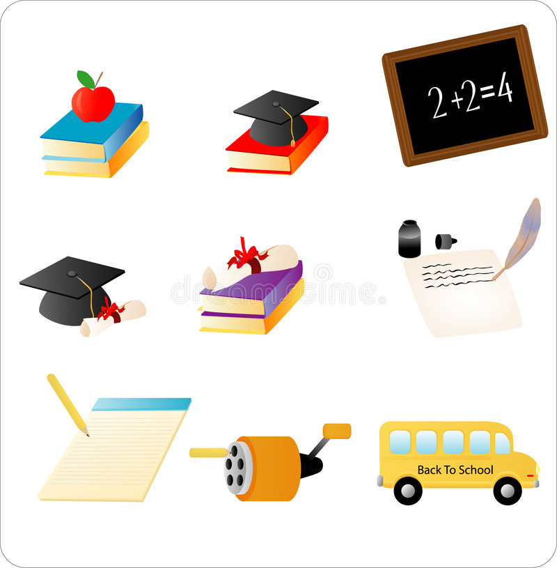 Download School Objects stock vector. Image of graduation, reading - 3134658