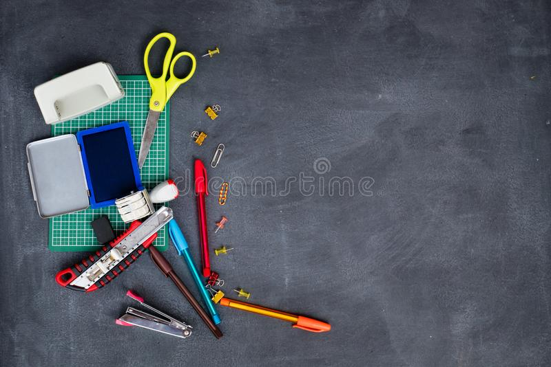 School and office stationary stock image