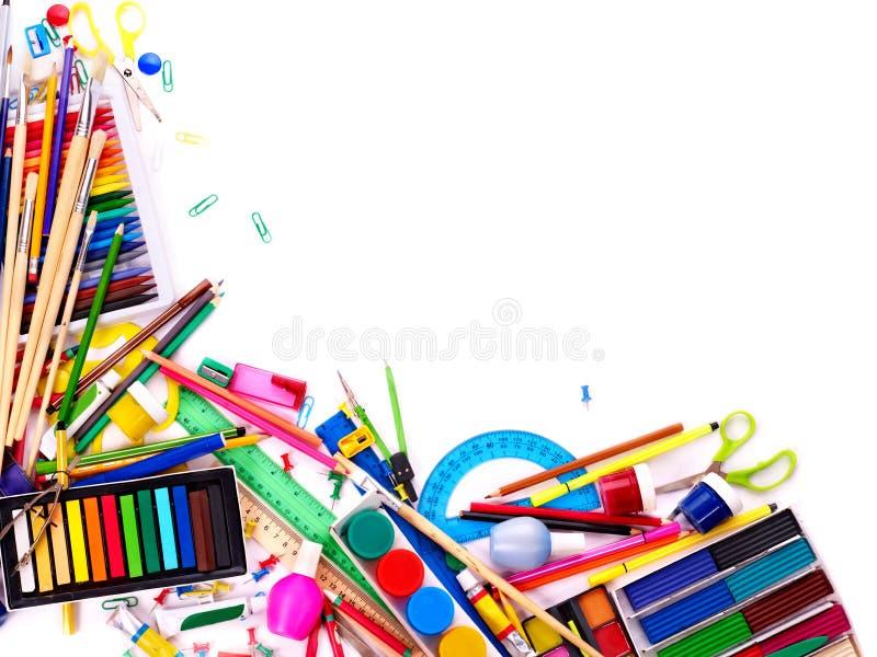 Download School office supplies. stock photo. Image of nobody - 20083432