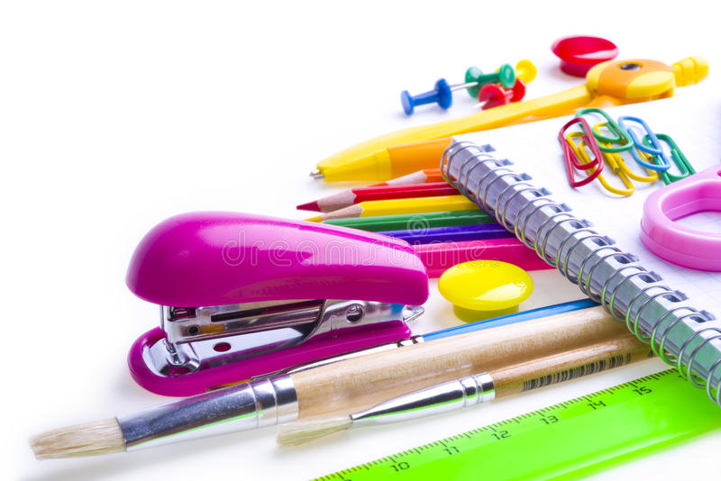 Download School and office supplies stock photo. Image of homework - 32288564