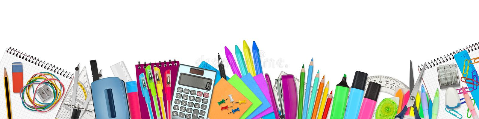 School / office supplies royalty free illustration