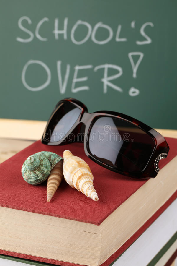 School is over stock image