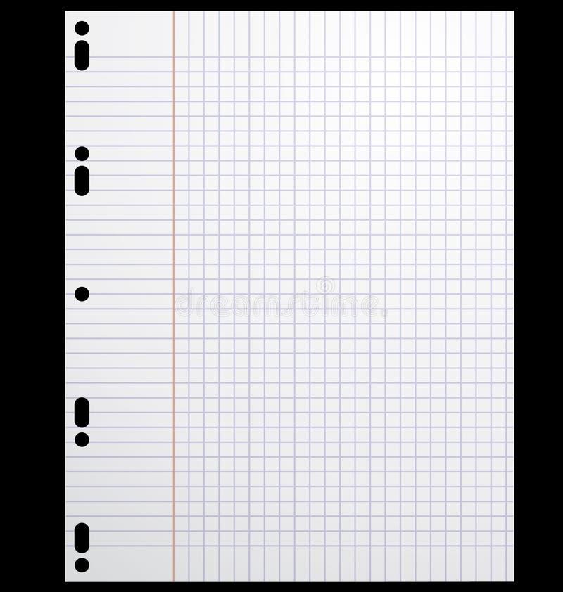 School paper sheet. vector illustration