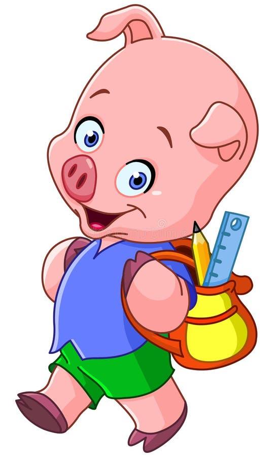 Download School pig stock vector. Illustration of little, backpack - 32180113