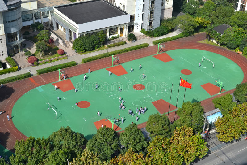 School playground stock photo