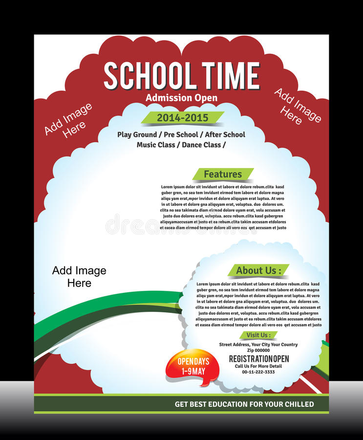 School Promotion Flyer Template Stock Vector Illustration Of Card