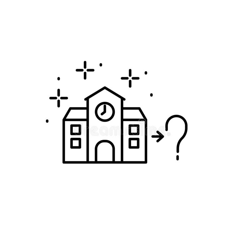 School, question icon. Element of gap icon. On white background royalty free illustration