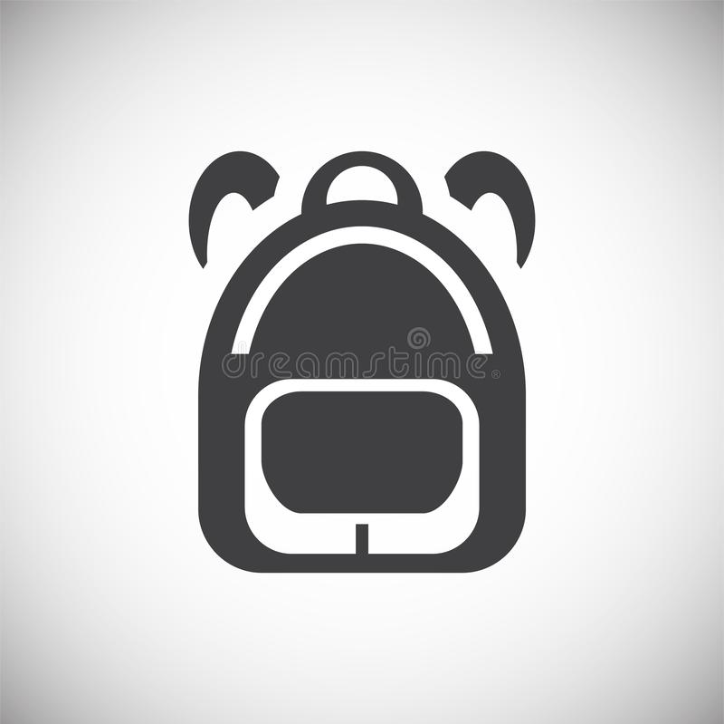School related icon on background for graphic and web design. Simple illustration. Internet concept symbol for website. Button or mobile app royalty free illustration