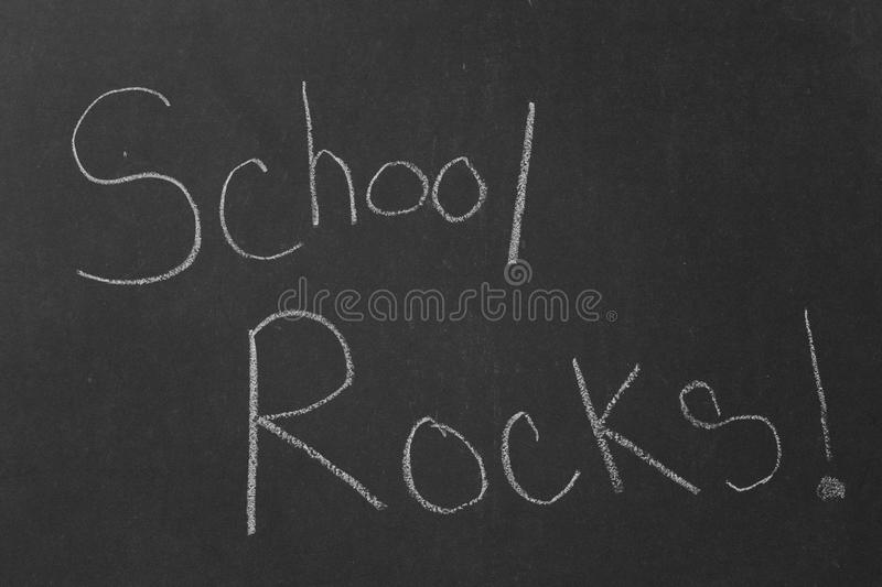 School Rocks! royalty free stock photography
