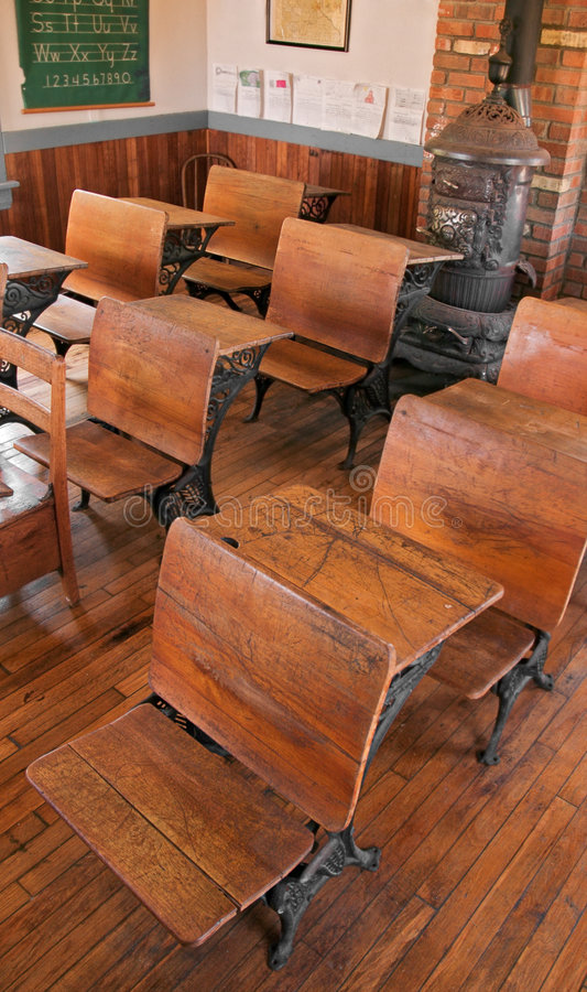 School Room - High View royalty free stock photos
