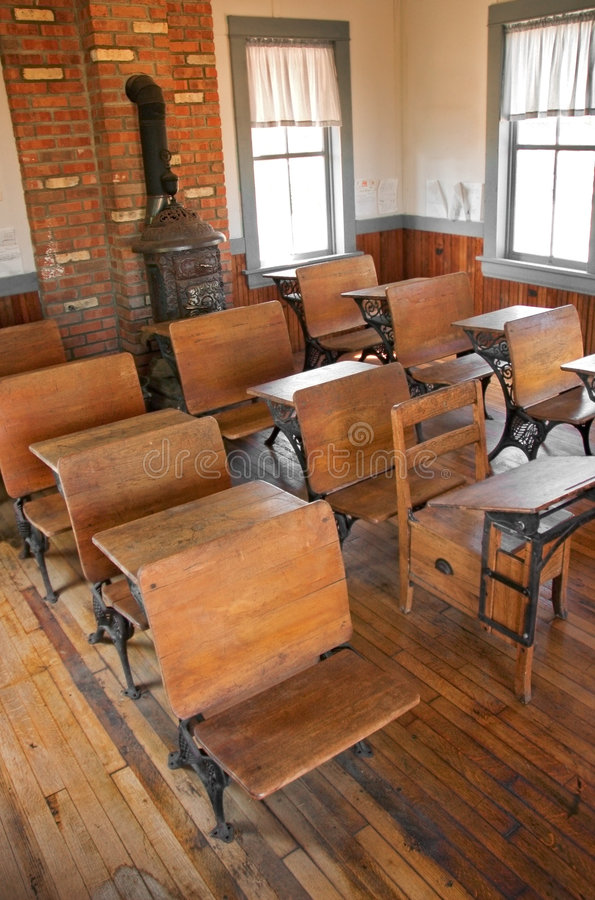 School Room - High View & Windows royalty free stock image