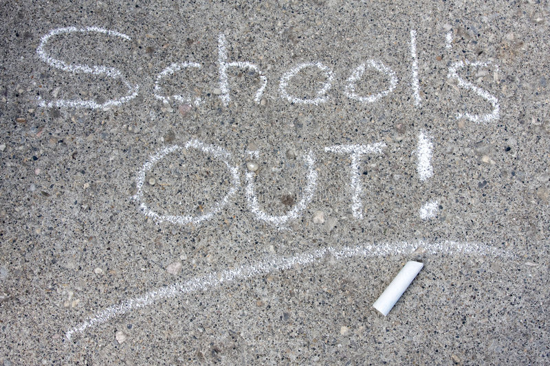 School S Out Stock Photography
