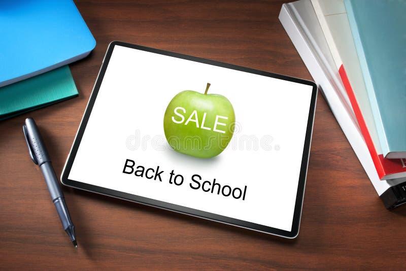 School Sale Tablet Books royalty free stock photos