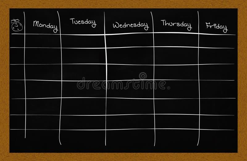 School schedule stock illustration