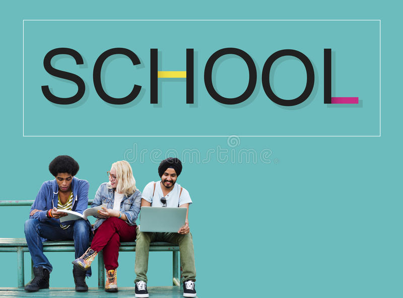 School Scholende Student Knowledge Educational Concept royalty-vrije stock fotografie