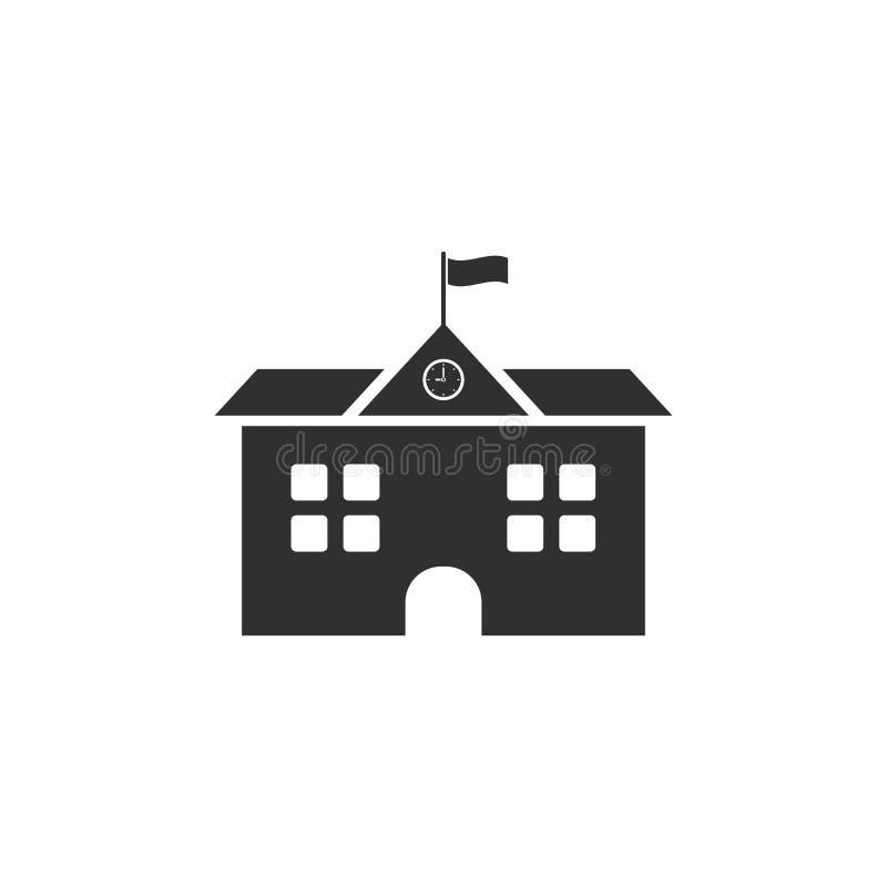 school, seminary, academy building icon. vector illustration on white background EPS10 stock illustration