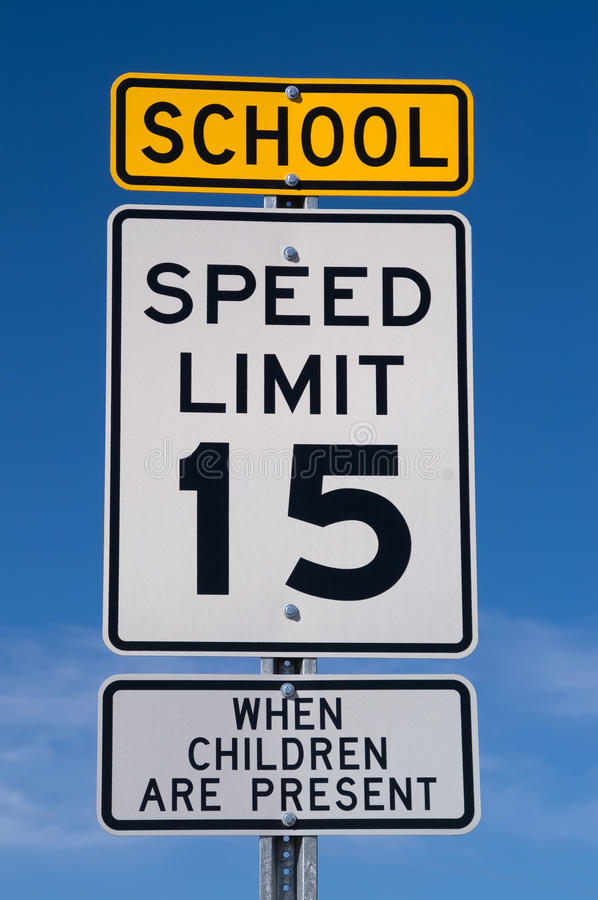 Download School Speed Limit Sign stock photo. Image of signage - 16060106