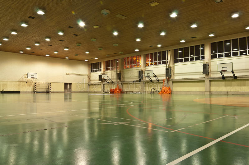 Download School Sports Hall stock photo. Image of gymnasium, ring - 27767214