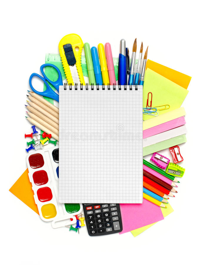 Download School stationery stock image. Image of apple, accessories - 35120177