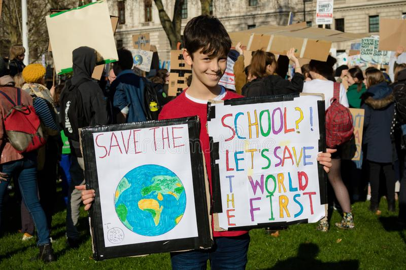 School Strike for Climate Change royalty free stock photos