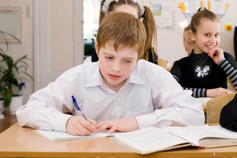 School Student at the class - Education concept royalty free stock images