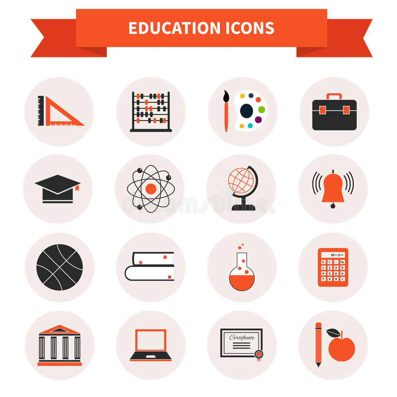 School Subject Icons Stock Illustration Image Of Pencil 43184532