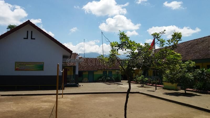 School in sunny day. This photo Elementary school in jombang east java Indonesia sunny day royalty free stock image