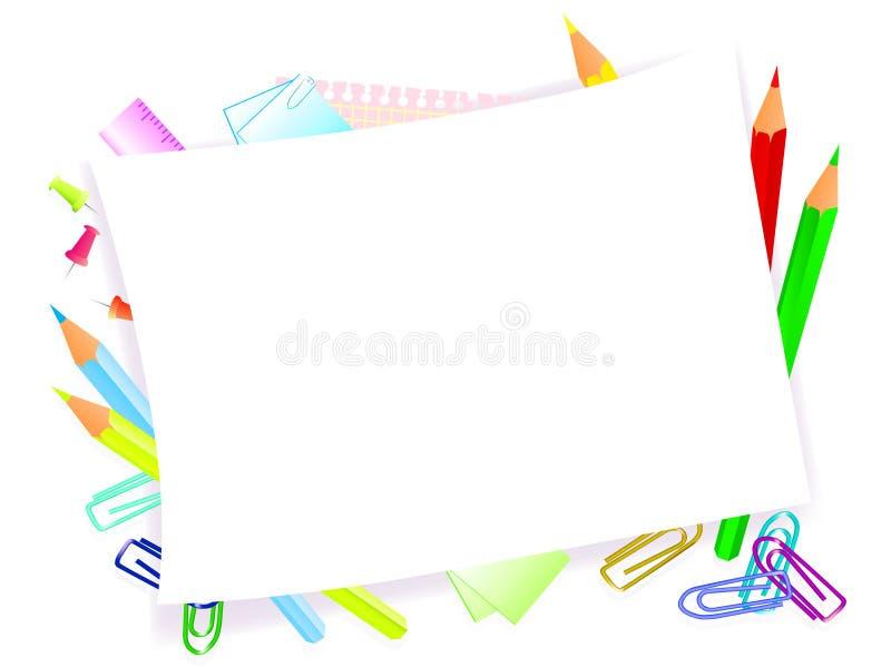 School supplies royalty free illustration