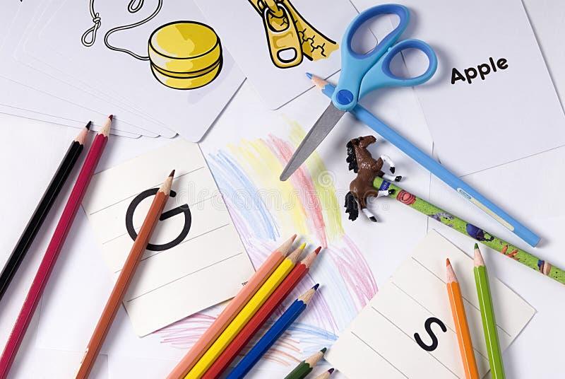 School Supplies 2 stock image