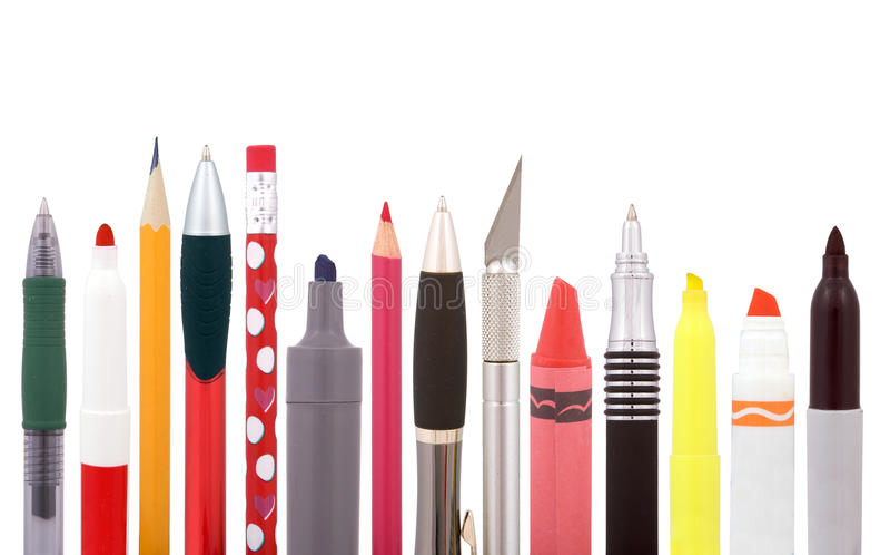 Download School supplies stock image. Image of crayon, ballpoint - 22193361